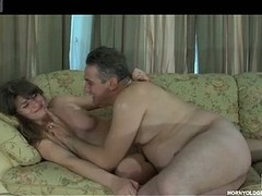 Doyenne guy encourages a cutie during the time that licking her soiled crack and stuffing her soiled crack