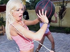 Kacey Jordan is practicing to join her college basketball team. However an obstacle guys are sitting court side expecting to jizz all over her. Kacey with the addition of her allies are some hawt a-hole harlots. Sometimes u can`t aid rubbing one out by wa