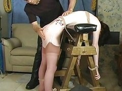 Chap-fallen bitch gets hog tied and tit-tortured