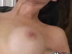 Horny old spouse brings his wife to get drilled so he can watch