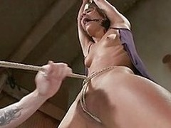 She screams like a whore later on the guy rips her shirt and then whips that slim body. Lyla is a cheap sex slave and she deserves completeness the executor does regarding her. Some whipping made her scream but that vibrator on the pussy is surely a exten