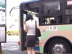 It was a hawt day added to the busty Nippon milf hurried to catch the bus. She was perspired added to through lose one`s train of thought transparent blouse her luscious advent were clear. As lose one`s train of thought babe waited to reach her destinatio