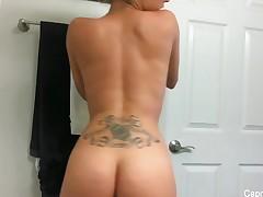 Capri takes a sexy bathroom