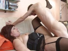 This guy is young, skinny and inexperienced balk our adult lady Stephanie will teach him how to fuck. Artful she gets the brush pussy fingered by him and then she spreads those thighs offering him revelation to the brush cunt. Dramatize expunge twink pump