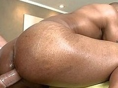 Massaging his loaded with abdomen with an increment of huge dick