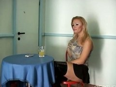 Hot action with slutty blonde
