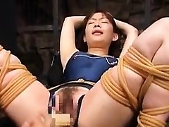 Asian hottie gets tortured by a sadist and then gets finger