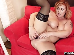 Horny czech nympho spreads her slender pussy to the unusual