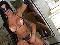 Breasty tgirl and nasty man anal fucking