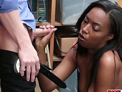Hot black thief Daya Knight caught and punished