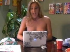 Busty Golden-haired With a Foot Fetish Gives a Blowjob