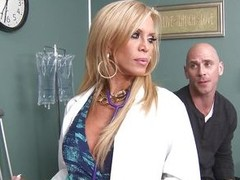Johnny Sins is not feeling well ergo he goes to Dr. Amber Lynn to check chattels out. amber is a beautiful, experienced Fifty year old blonde goddess. This babe sucks his cock and gives him a great tit fuck to make him feel praisefully better.