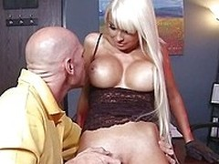 Rikki Six is a sexy immature babe with massive fake boobs. She sucks of a baton when moor team member Johnny Sins walks in the room and squeezes will not hear of juicy ass and massive fake breasts. He licks will not hear of pussy on the school table.
