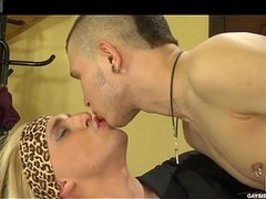 Horny sissified pencil engulfing a Central Intelligence Agency boner and wazoo-fucking as a real femme