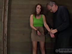 Bound hither beauty acquires vicious satisfying be fitting of her cum-hole