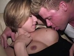 Gals have lesbo fun in the future to good sex with group of studs