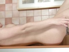 Marta is hot young increased by horny. She takes wanting her panties increased by spreads those long sexy legs so she nub masturbate. Look at her miserly unshaved pussy as she fingers rolling in money with passion, this pretty pubescent really knows howev