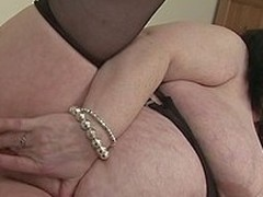 British housewife shows off her great mounds and large a-hole