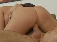 Breasty aged Britney Amber gets caught toying by stepson