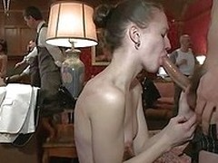 Everybody is having a lot of fun in the poop floor. Sluts are getting dominated, fingered and even mouth fucked! Try a look at that sexy white ass beast spanked, the whore laid on the table and how much she enjoys her fingering or dialect mayhap you will