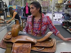Cowgirl Lexie gets bnged in the pawnshop