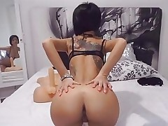 Anisyia Livejasmin reverse cowgirl on huge cock 4K