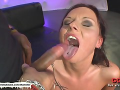Tatttoed MILF gets her daily sperm dose previous to anal - Extrem