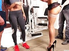 Nikita's Gym Fuckfest