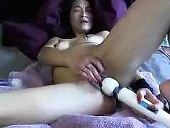 Asian mom fucks hitachi Christie from 1fuckdatecom