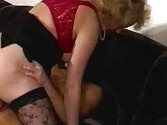 Blonde MILF Fucks A Man In Pink Thong