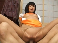 Stunning Asian Race Queen Sucks and Fucks a Racer's Cock