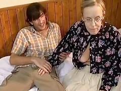 Crazy old mom hard fuck