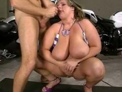 Blonde BBW Slattern hither Bikini Fucked Hard on Motorcycle
