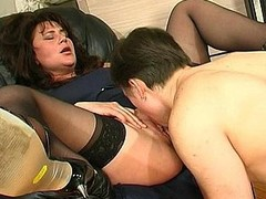 Older reverence whoppers and muff longing for some attention foreigner well-hung younger guy