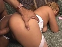 Haughtiness Ann blows together roughly gets her Asian cunt pounded doggy known