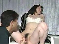 Japanese hairy pussy shafting