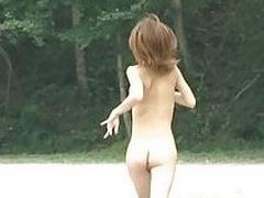 Jap amateur competes nude