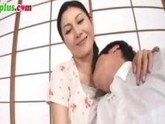 Censored shore up steady of a Japanese MILF gender a immensely younger man