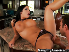 Angelica Heart with kewl ass and bald beaver makes her anal dreams a reality with hot guyJordan Ash