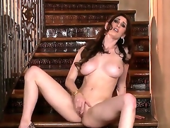 Are you looking forward to see sexy Just Amber is masturbating on stairs If your answer is affirmative then look at how she is becoming nude before rubbing clitoris.