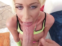 A wannabe porn star is trying to make it in the biz. Riley Jenner gives a blow job and then takes on a cock deep inside her ass. She can stand the punishment.