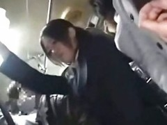 Rendezvous lady seduced fucked by geek on bus